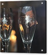 Wedding Glasses Acrylic Print by Donald Torgerson