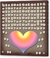 Wedding Guest Signature Book Heart Bubble Speech Shapes Acrylic Print