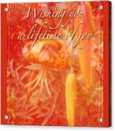 Wedding Joy Greeting Card - Turks Cap Lilies Acrylic Print