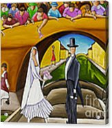 Wedding On Barge Acrylic Print