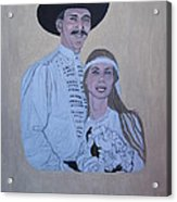 Wedding Portrait Acrylic Print by Elizabeth Stedman