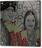 Wedding Sketch Acrylic Print