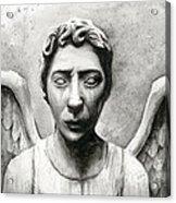 Weeping Angel Don't Blink Doctor Who Fan Art Acrylic Print