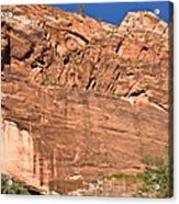 Weeping Rock In Zion National Park Acrylic Print