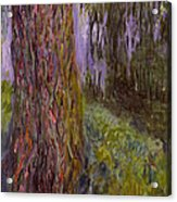 Weeping Willow And The Waterlily Pond Acrylic Print