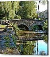 Weeping Willow Bridge Acrylic Print by Robert Culver