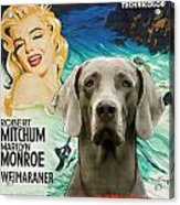 Weimaraner Art Canvas Print - River Of No Return Movie Poster Acrylic Print