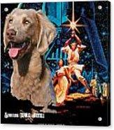 Weimaraner Art Canvas Print - Star Wars Movie Poster Acrylic Print
