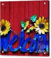 Welcome Acrylic Print