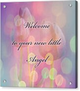 Welcome New Baby Greeting Card - Tulips Acrylic Print