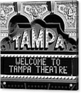 Welcome Tampa Acrylic Print