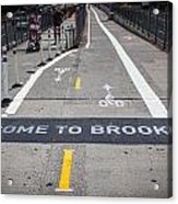 Welcome To Brooklin Acrylic Print