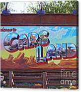 Welcome To Cars Land Acrylic Print