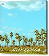 Welcome To Daytona Beach Acrylic Print