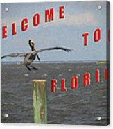 Welcome To Florida Acrylic Print