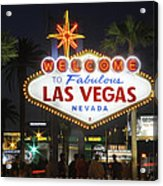 Welcome To Las Vegas Acrylic Print by Mike McGlothlen