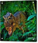 Welcome To My Park Tyrannosaurus Rex Acrylic Print