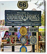 Welcome To Radiator Springs Acrylic Print