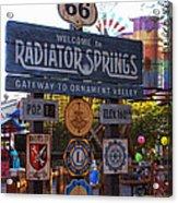 Welcome To Radiator Springs Acrylic Print