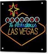 Welcome To Vegas Acrylic Print