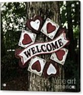 Welcome With Love Acrylic Print