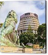 Wellington The Beehive Parliament Buildings New Zealand Acrylic Print