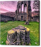 Welsh Abbey  Acrylic Print by Adrian Evans