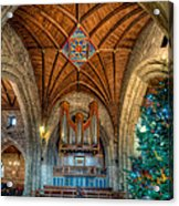 Welsh Christmas Acrylic Print by Adrian Evans