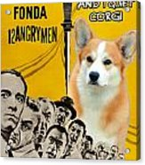 Welsh Corgi Pembroke Art Canvas Print - 12 Angry Men Movie Poster Acrylic Print