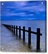 Welsh Seascape Acrylic Print by Adrian Evans
