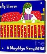 Welsh Snowman Bedtime  Acrylic Print