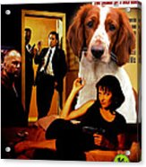 Welsh Springer Spaniel Art Canvas Print - Pulp Fiction Movie Poster Acrylic Print