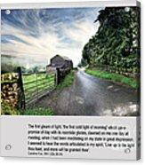 Wensleydale Road Acrylic Print by Mike Hoyle