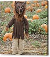 Werewolf In The Pumpkin Patch Acrylic Print