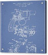 Wesson Hobbs Revolver Patent Drawing From 1899 - Light Blue Acrylic Print