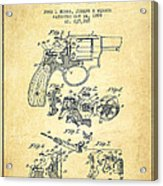Wesson Hobbs Revolver Patent Drawing From 1899 - Vintage Acrylic Print