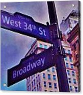West 34th And Broadway Acrylic Print