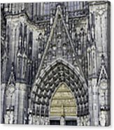 West Entrance Door Cologne Cathedral Acrylic Print