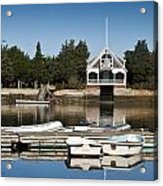 West Falmouth Boat House Acrylic Print