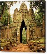 West Gate To Angkor Thom Acrylic Print