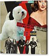 West Highland White Terrier Art Canvas Print - All About Eve Movie Poster Acrylic Print