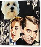 West Highland White Terrier Art Canvas Print - Suspicion Movie Poster Acrylic Print