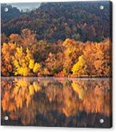 West Lake Winona Orange Stripe Acrylic Print