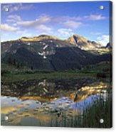 West Needle Mountains Reflected In  Pond Acrylic Print