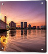 West Palm Beach Skyline At Dusk Acrylic Print