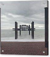 West Pier Skeleton In Brighton Acrylic Print