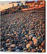 West Point Lighthouse Rocks Acrylic Print