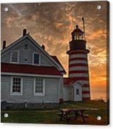 West Quoddy Light At Sunrise Acrylic Print