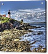 West Quoddy Lubec Maine Lighthouse Acrylic Print