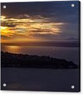 West Seattle Sunset Sunstar Acrylic Print